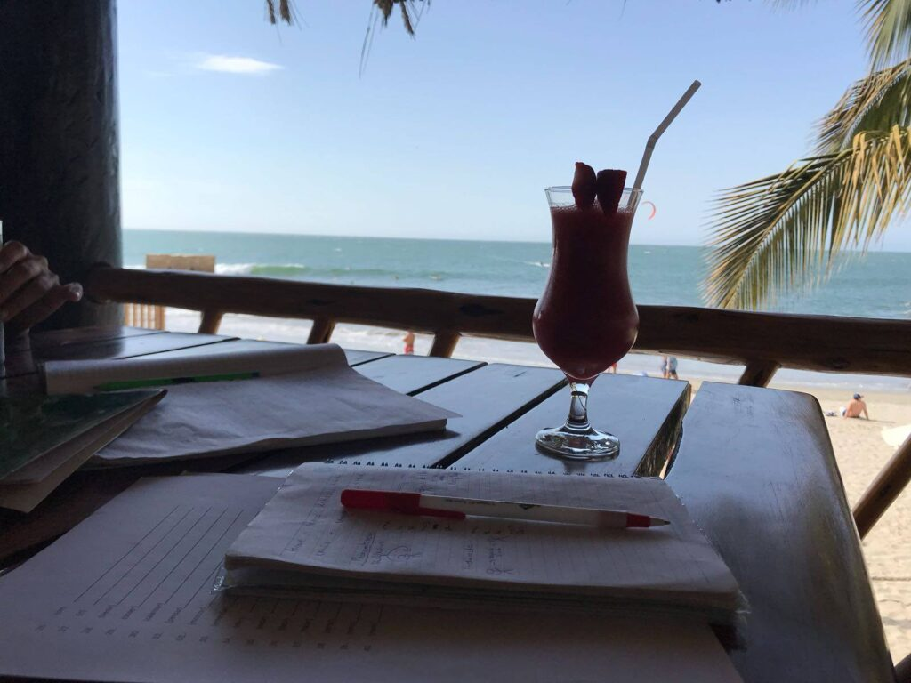learning on the beach is easy and different